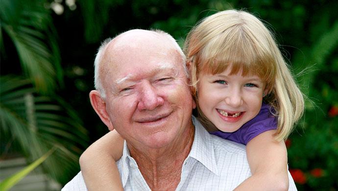 grandfather-granddaughter