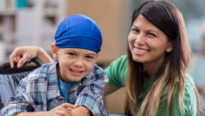 child with long term illness with support from Enliven